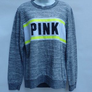 Victoria's Secret Pink Sweatshirt Women M Gray